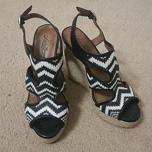 Lucky Brand Printed Wedges